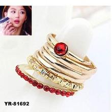 Latest Design Jewelry Wholesale Fashion Metal Ring Sets