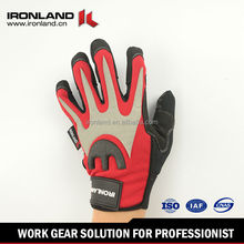 Stretch Spandex Synthetic Leather High Impact Protective Gloves