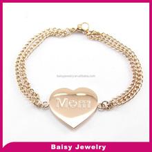 china supplier Fashion bulk sale mom gift eternal stainless steel jewelry faith love hope bracelet