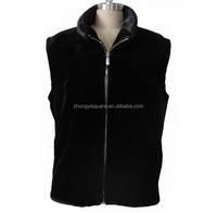 China fur supplier wholesale mink fur coat men's fur vest