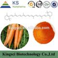 Fabrication gmp 100% beta carotène naturel extrait de carotte poudre ks-3511 prix