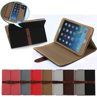 colorful hybrid leather case for iPad Mini 1 2 3 with girdle