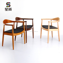 SDAWY leisure chair DC-604 Wooden PU Dining Chair