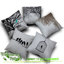 Fashion European Cushion Covers Beautiful Forest Throw Pillows Car Decor Cushion Tree Birds Cushion pillow bedding set
