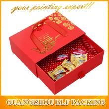 (BLF-GB996)gift box small quantity for hot stamping ribbon handle