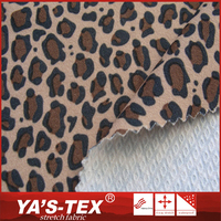 Fancy design soft touch stretch poly jacquard fabric