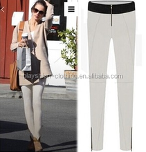 The European and American wind black and white and dichromatic leisure trousers women pants