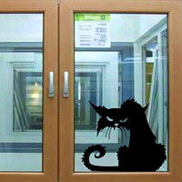Popular Vinyl Removable 3D Wall Stickers Halloween Black Cats Decor Decals for Walls Decal Wall Murals