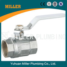 Trade assurance Brass Ball valve with new bonnet steel handle from china Yuhuan Miller Plumbing ML-2009