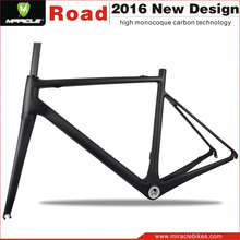 700C Miracle Bike new model MC565 inside cable road bicycle frame aero carbon frame bike race china