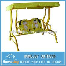 Modern patio garden kids swing with canopy, waterproof kids swing