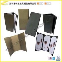 Wholesale Triangle Rotatable Custom Leather Menu Holder,Menu Stand,Menu Cover And Restaurant Table Standing Menu Folder