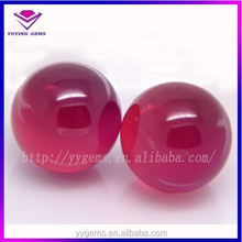 5mm round cabochon cut ruby 5# corundum ball