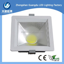 Epistar Dimmable 20W COB Square LED Ceiling light LED Downlight