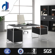 F-08 Modern design office furniture stand up desk with filing cabinet