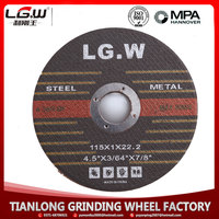 T41 4.5inch 115x1x22mm cutting disc for metal and stainless steel