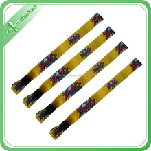 Polyester Sublimate custom fabric woven wristband