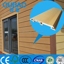 eco-friendly 113 * 16mm wood plastic composite clapboard siding
