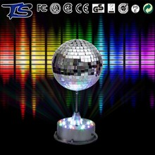Hang and table style rotating LED mirror ball disco light for holiday party