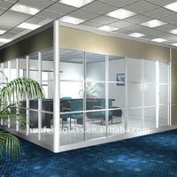 Tempered Glass Wall Meeting Room