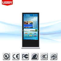 Factory price shopping mall 42 inch floor stand lcd touch screen advertising display 3g wifi with server softwar
