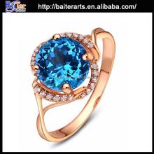 Brilliant fashion big stone silver ring , 925 sterling silver fashion ring with big stone