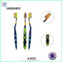 Rubber bristle round toothbrush