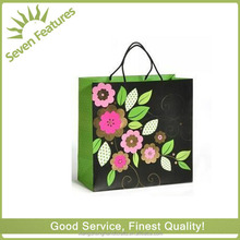large black silks beautiful pink roses black paper present bag for happy birthday /Mother 's day
