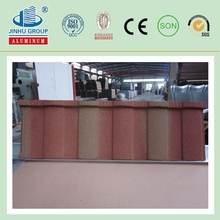 decorative galvanized steel corrugated stone coated roof tile