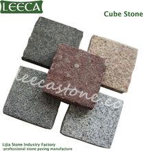 mistura de cores de pedra de pavimentação cubo paver