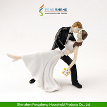 """Wedding Cake Topper """"ROMANTIC DANCE COUPLE"""" Bride and Groom Engagement Party"""