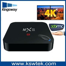 Newest high end amlogic s802 mxiii tv box full HD 4K android 4.4 tv box webcam with skype