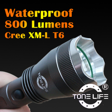 Underwater Torch Light Waterproof Outdoor Lighting Specialized Bicycle Lightwith Button Switch Control to 5 Mode TL3035