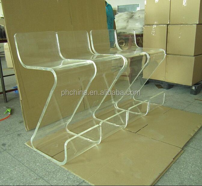 Sf-62 acrílico Z BAR fezes, Vtg LUCITE acrílico Z BAR VANITY STOOL cadeira meados do século MORDEN atômica espaço AG