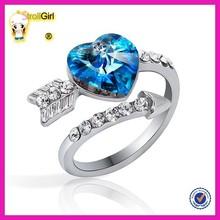 Yiwu juzhi wholesale wedding platinYiwu juzhi wholesale wedding platinum rings best selling wedding ring design with blue zircon