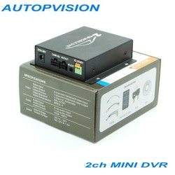 2Ch Vehicle Video Recorder Car/Bus mini Mobile Car Video DVR I/O Alarm Motion Detect Max Upto 128GB SD Card