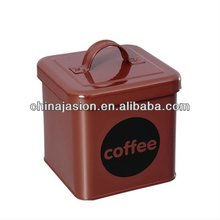 Rectangle Tea/Coffee/Sugar Canister Wholesales / Brown / Colorful Coffee Metal Storage tin box