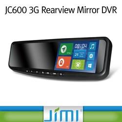 JIMI JC600 car DVR G-sensor rearview monitor car radio with sim card
