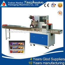 Multi- función de barras de granola de embalaje de la máquina