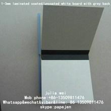 dong guan 2mm chip board dongguan duplex board with grey back