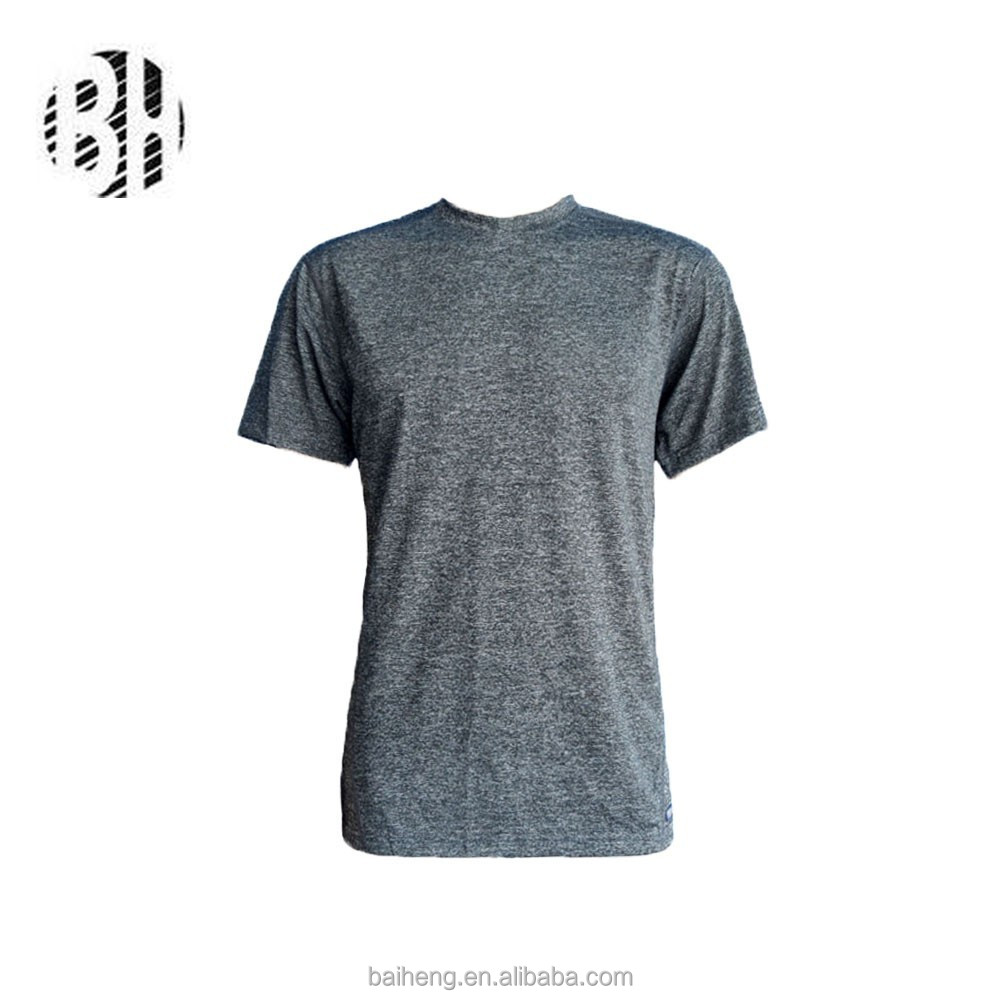 2015 bh oem grey melange color fabric mens t shirt buy. Black Bedroom Furniture Sets. Home Design Ideas