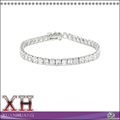 Fabrica de joyeria al por mayor Silvertone Cubic Zirconia Diamond Bracelet
