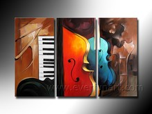 latest abstract violin oil painting on canvas for decor