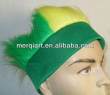 New football fans crazy wig hair for club or beer company promotion events