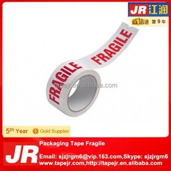 fragile printed adhesive packing tape 50m x 48mm super durable strong red on white