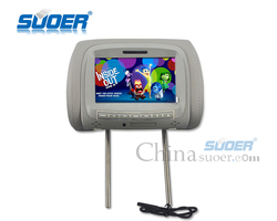 Suoer Universal 7 Inch Car Video Player Car Headrest Monitor