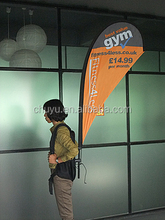 Very cheap promotional outdoor backpack flying banners