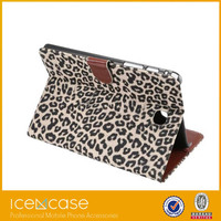 2015 Leopard Print Style Premium PU Leather W/Stand Case Cover For galaxy Tab