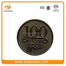 Custom Number Raised Metal Coin For Promotional