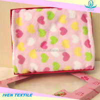 2015 Hot Sale 100% Polyester Super Soft Promotion Coral Fleece Baby Blanket